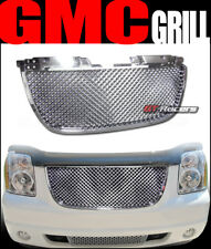 FOR 2007-2014 GMC YUKON DENALI CHROME LUXURY MESH FRONT BUMPER HOOD GRILL GRILLE