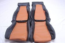 Custom Made 1988-1991 Mazda Rx7 RX-7 Convertible FC Leather Seat Covers Two Tone