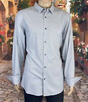 Banana Republic Size 171/2 Men's Shirt Slim Fit  Gray  Long Sleeve Button Front