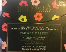 Spongelle Mani Pedi Treatment Set-Flower Market - New and Sealed! 2 Buffers 3 oz