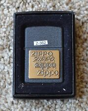 New Black Crackle Finish with Copper Plate front Zippo Lighter! Zippo Logo!