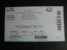 MICKY FLANAGAN  O2 LONDON  18/10/2013 TICKET