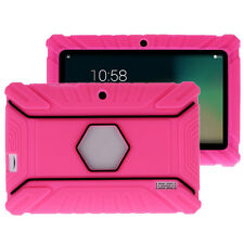 Soft Silicone Rubber Gel Case Cover For 7 Inch Android Tablet PC Rose Red Cover