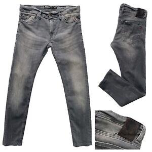REPLAY Jondrill Mens Grey Denim Skinny Jeans Size 32