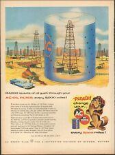 1946 Vintage ad for AC Oil Filter`retro Art Oil Fields Dog Car   020120