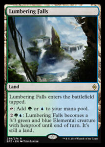 Lumbering Falls x1 - Battle for Zendikar - NM-Mint, English - Battle for Zendika
