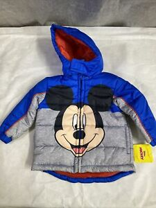 Mickey Mouse Puffer Jacket Boys 2T