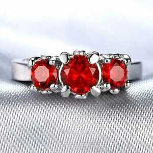 CNL157 Handmade 2.80CT Natural Ruby 14K White Gold Ring Size US7