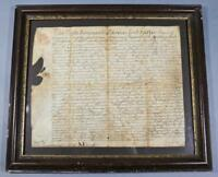 1765 Thomas Lord Fairfax **SIGNED** Land Grant to Quaker John Fawcett