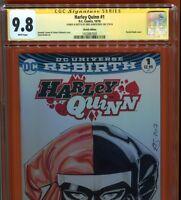 Harley Quinn #1 BLANK CGC SS 9.8 signed ORIGINAL HARLEY SKETCH Kirkpatrick NM/MT