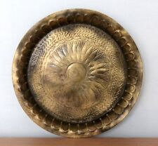 1900s Old Antique Beautiful Hand Engraved Round Shape Brass Trey/Tray/Plate #421