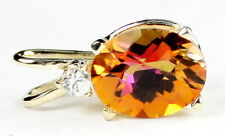 Twilight Fire Topaz, 14KY Gold Pendant, P020