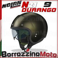 CASCO MOTO SCOOTER JET NOLAN N21 N-21 DURANGO MONO GIALLO BRILLANTE 009 XL