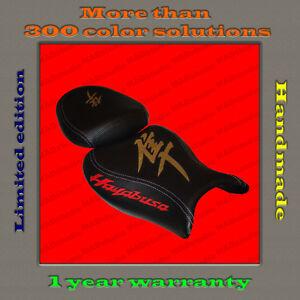 Design Seat Cover Suzuki Hayabusa 08+ HANDMADE black+gold+red 001