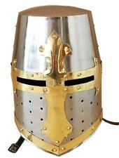 Medieval Crusader Greek Helmet Corinthian Gladiator Costume Armour Barbute hel.