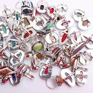 Wholesale Lot Agate And Multi Gemstone Ethnic Jewelry Handmade Ring Best Offer