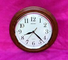 """Vintage Seiko 12"""" Round Wood Wall Clock - Nice!!"""