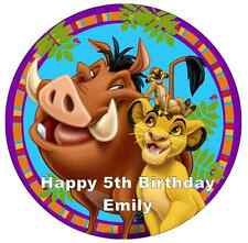 """Lion King Disney Personalised Cake Topper 7.5"""" Edible Wafer Paper"""