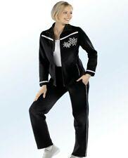 Toller Damen Freizeitanzug Trainingsanzug Sportanzug in Schwarz-Weiß