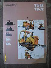 Vintage 1980 IH International Harvester TD-8E TD-7E Flyer Opens to Poster
