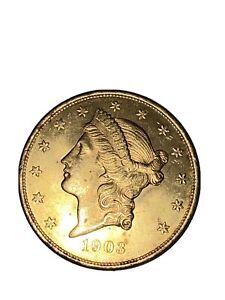 1903 US Gold $20 LIBERTY HEAD DOUBLE EAGLE