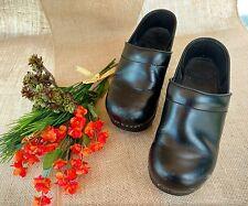 "Black Leather DANSKO Clogs ""Professional""  Size EU 37 US 6.5 - 7"