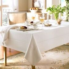 Waterford Table Cloth Linens Addison Linen Oblong 70'' x 84'' Table Cloth Cream