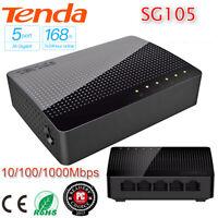 Tenda SG105 5-Port Gigabit Network Switch 1000Mbps Unmanaged Ethernet Hub Switch