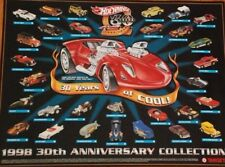 Hot  Wheels 30th Anniversary Collection Poster NEW+SEALED Rare Out Of Print New