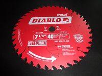 """Two Diablo D0740A 7 1/4"""" 40T Finish Circular Saw Blade fitS Dewalt DCS575 DWS535"""