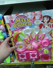 Set miss cuoca bimbe bambole Kit gioco di qualità giocattolo toy