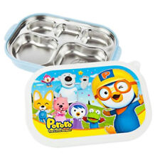 PORORO Stainless Steel Food Snack Plate Tray Lunch Box for Kids Children BL