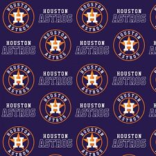 "Houston Astros Baseball Fabric-60"" Wide-Astros Logo-BTY-Navy Background"