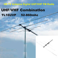 200+ Mile Long Range Digital Antenna HDTV 1080p Outdoor HD TV UHF VHF FM Radio