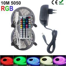 LED Strip Light 10M 5M DC 12V SMD RGB Tape Diode Ribbon Controller Adapter Set