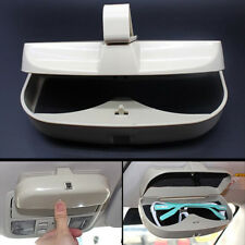 Auto Fastener Sun Visor Sunglasses Holder Glasses Cases Card Ticket Storage Box