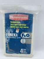 Rubbermaid Vacuum cleaner bags F & G upright fits Eureka VIP1020 1-4 pack READ