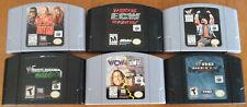 N64 NINTENDO 64 WWE WWF Lot of 6 WRESTLING GAMES No Mercy NITRO ECW Hardcore +