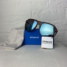 New Polaroid Tortoiseshell Sunglasses Mirrored Polarised Lenses 80s RRP £60