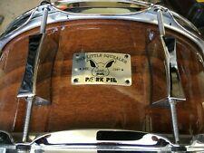 "Pork Pie Custom 6x14"" 10 lug Maple Snare w Mahagany/Rosewood Finish,  Beauty !"