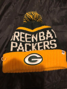 Green Bay Packers NFL '47 Brand Winter Beanie  Cap Hat with Pom  Vintage