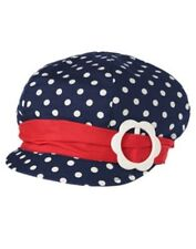 NWT Size 2T-3T Gymboree SMART LITTLE LADY Very Cute Navy White Polka-Dot Hat Cap