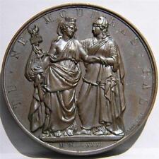 Belgium-POLAND 1831 Polish Revolution against Russia bronze medal Rare toned UNC