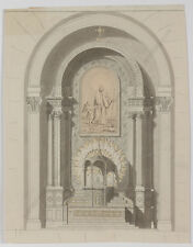 """Neoclassical Architectural Design"", Austrian School, Drawing,Early 19th Century"