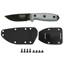 Esee Model 3 Knife Plain Edge Black Black Sheath and Belt Clip Plate Esee 3P
