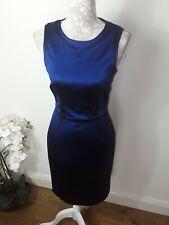 Karen Millen purple satin glamorous wiggle dress 12 10
