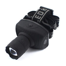 1| Lampe Frontale-LED-Zoomable-3x AA-Headlamp-Lumière vélo-Lampe-camping-grotte