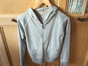 Grey Plain Coloured Hoodie Size 6/8 In Very Good Condition .