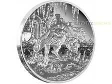 2 $dólares Creatures of Greek mythology Cerberus Niue Island 1 Oz plata 2015