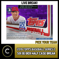 2019 TOPPS BASEBALL SERIES 2 6 BOX (HALF CASE) BREAK #A232 - PICK YOUR TEAM